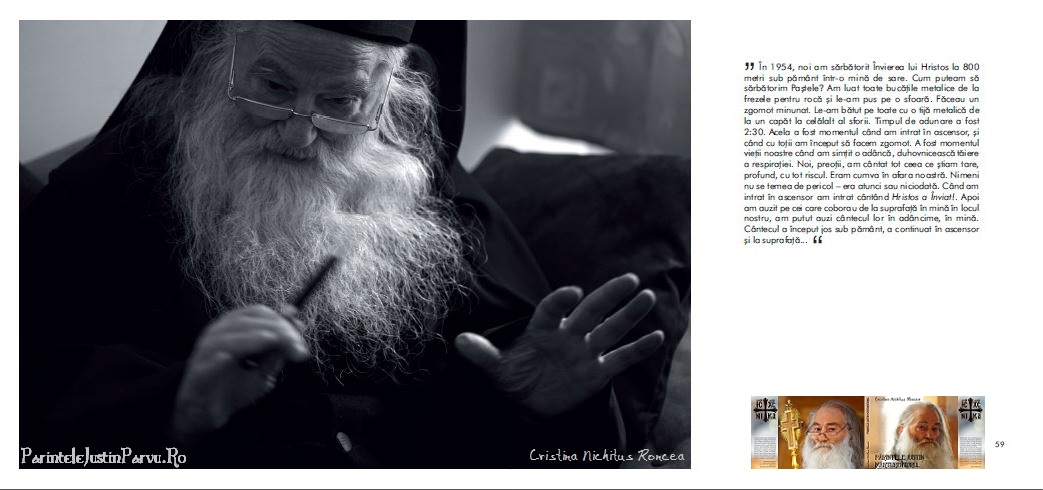 Parintele Justin Marturisitorul despre SFintele Pasti in inchisoare la Mina de la Baia Sprie - Cristina Nichitus Roncea