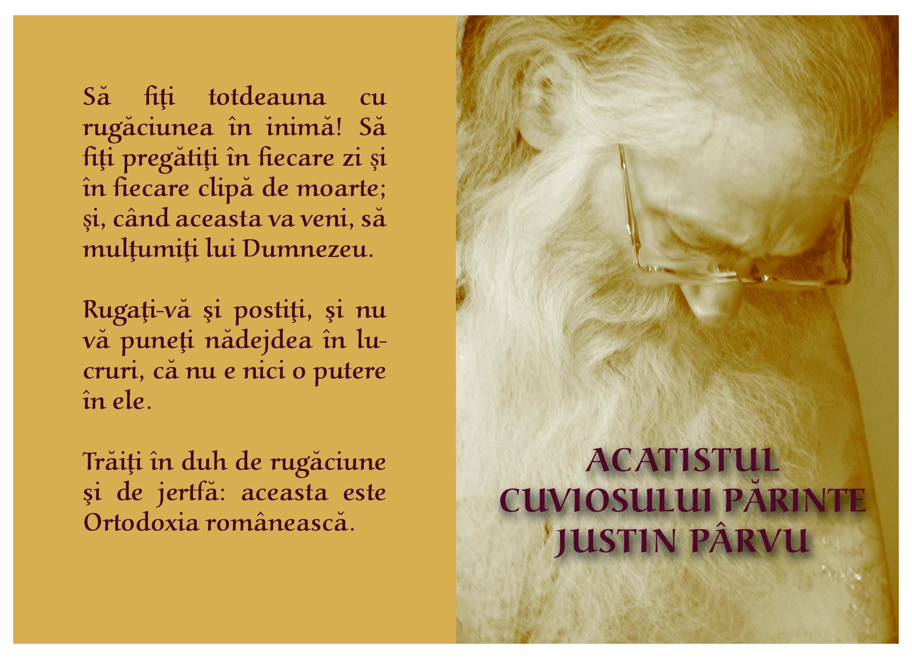 Coperta-Acatist-Parintele-Justin - de M Neonila - Manastirea Petru Voda