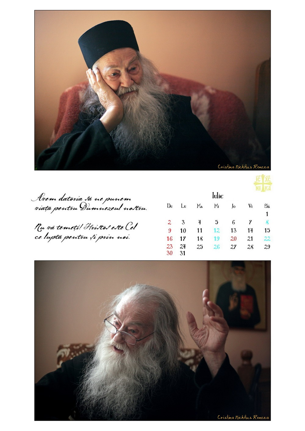 Calendar 2017 Parintele Justin Parvu Ro - Foto Cristina Nichitus Roncea si Manastirea Petru Voda 09
