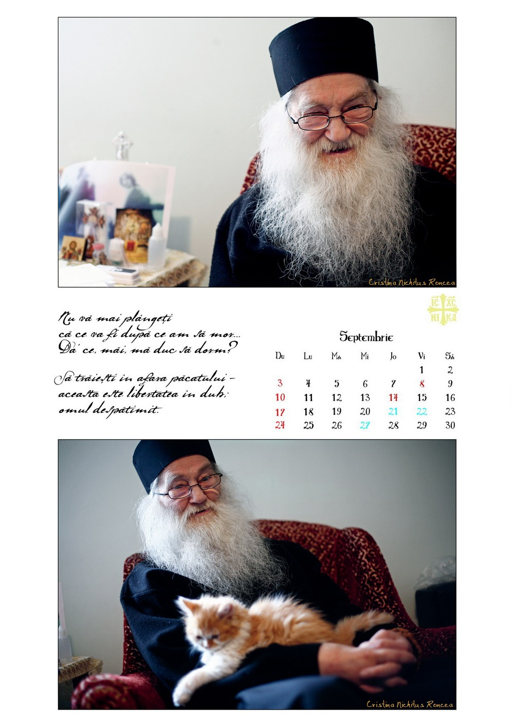 Calendar 2017 Parintele Justin Parvu Ro - Foto Cristina Nichitus Roncea si Manastirea Petru Voda 11