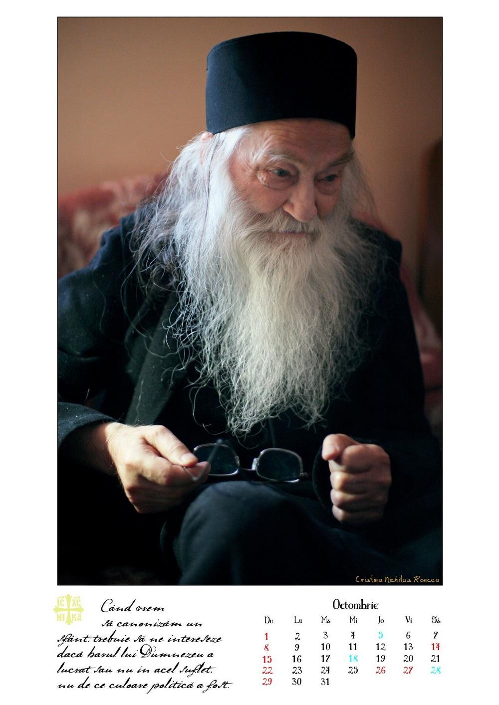 Calendar 2017 Parintele Justin Parvu Ro - Foto Cristina Nichitus Roncea si Manastirea Petru Voda 12