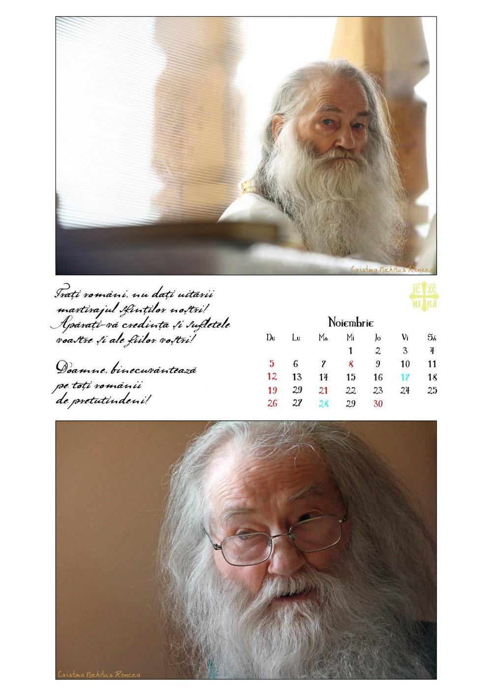 Calendar 2017 Parintele Justin Parvu Ro - Foto Cristina Nichitus Roncea si Manastirea Petru Voda 13