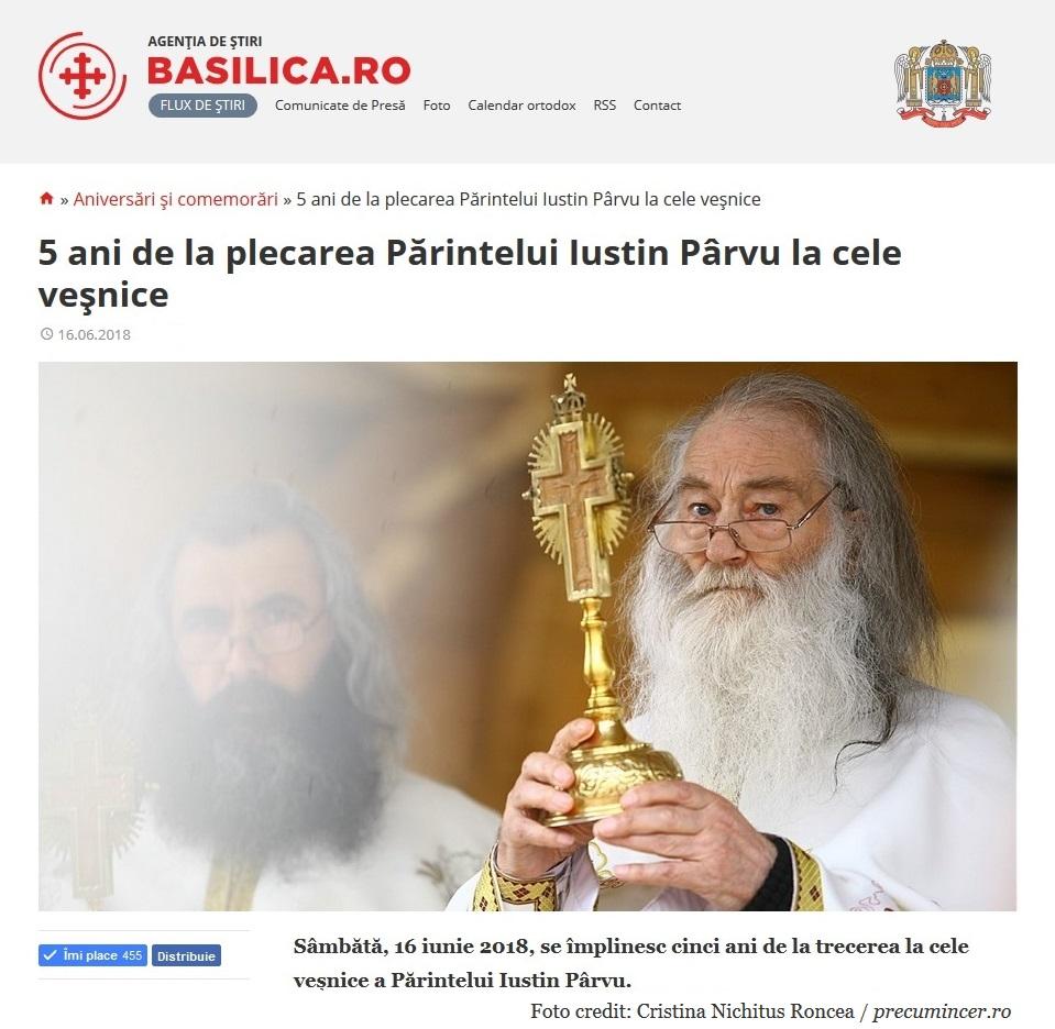 Parintele Justin Parvu - Basilica Ro Foto Cristina Nichitus Roncea